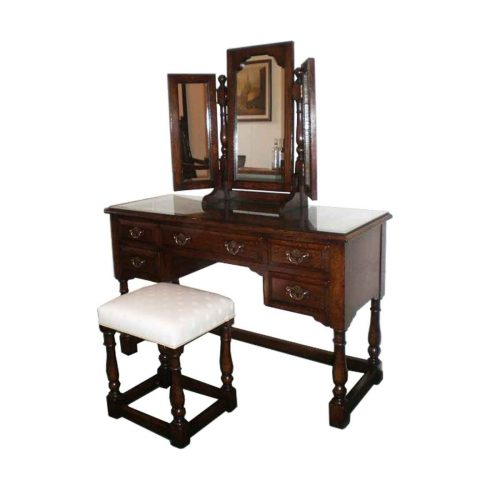 Bespoke Dressing Table and Mirror Handcrafted in Suffolk