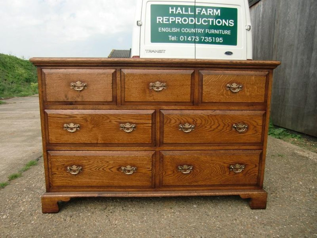 Bespoke Large Chest of 7 Drawers Handcrafted in Suffolk