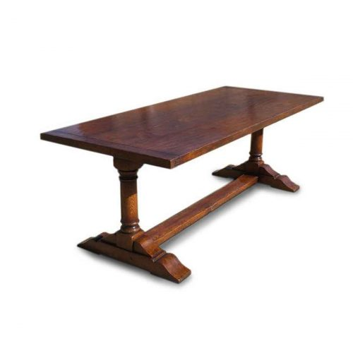 Bespoke Pedestal Refectory Table + Extensions Handcrafted in Suffolk