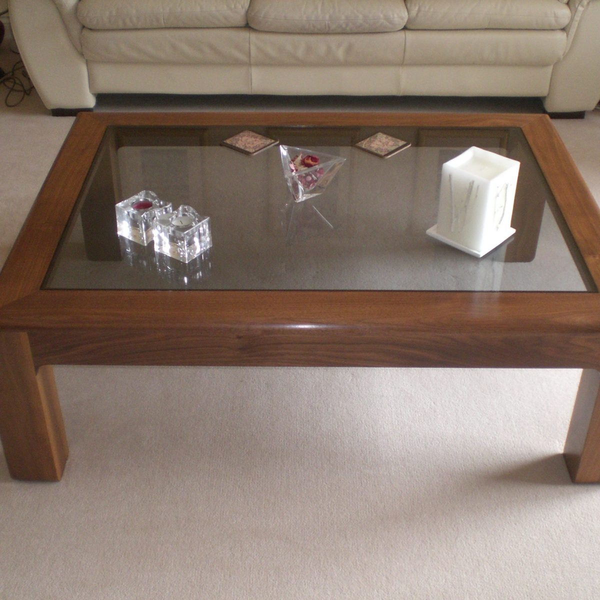 Bespoke American Black Walnut Coffee Table Handcrafted in Suffolk