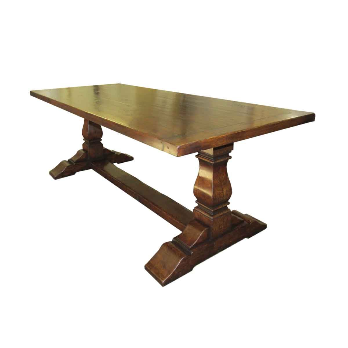 """Bespoke 6"""" Leg Square Cut Refectory Table Handcrafted in Suffolk"""
