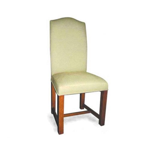 Bespoke Square Leg Upholstered Chair Handcrafted in Suffolk