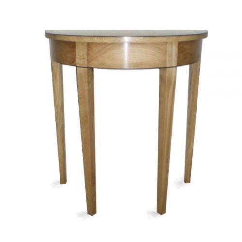 Demi-lune side table.