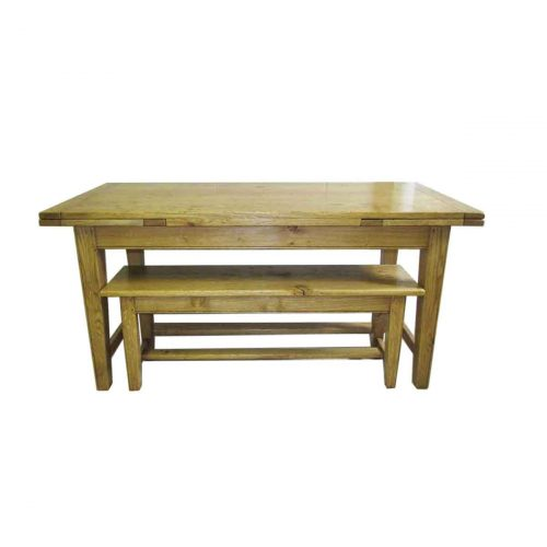 Bespoke Farm-House Draw-Leaf Table Handcrafted in Suffolk