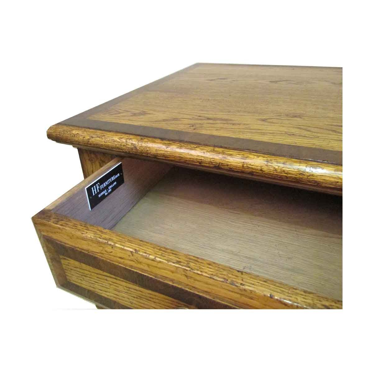 Bespoke Cross-Banded Coffee Table Handcrafted in Suffolk