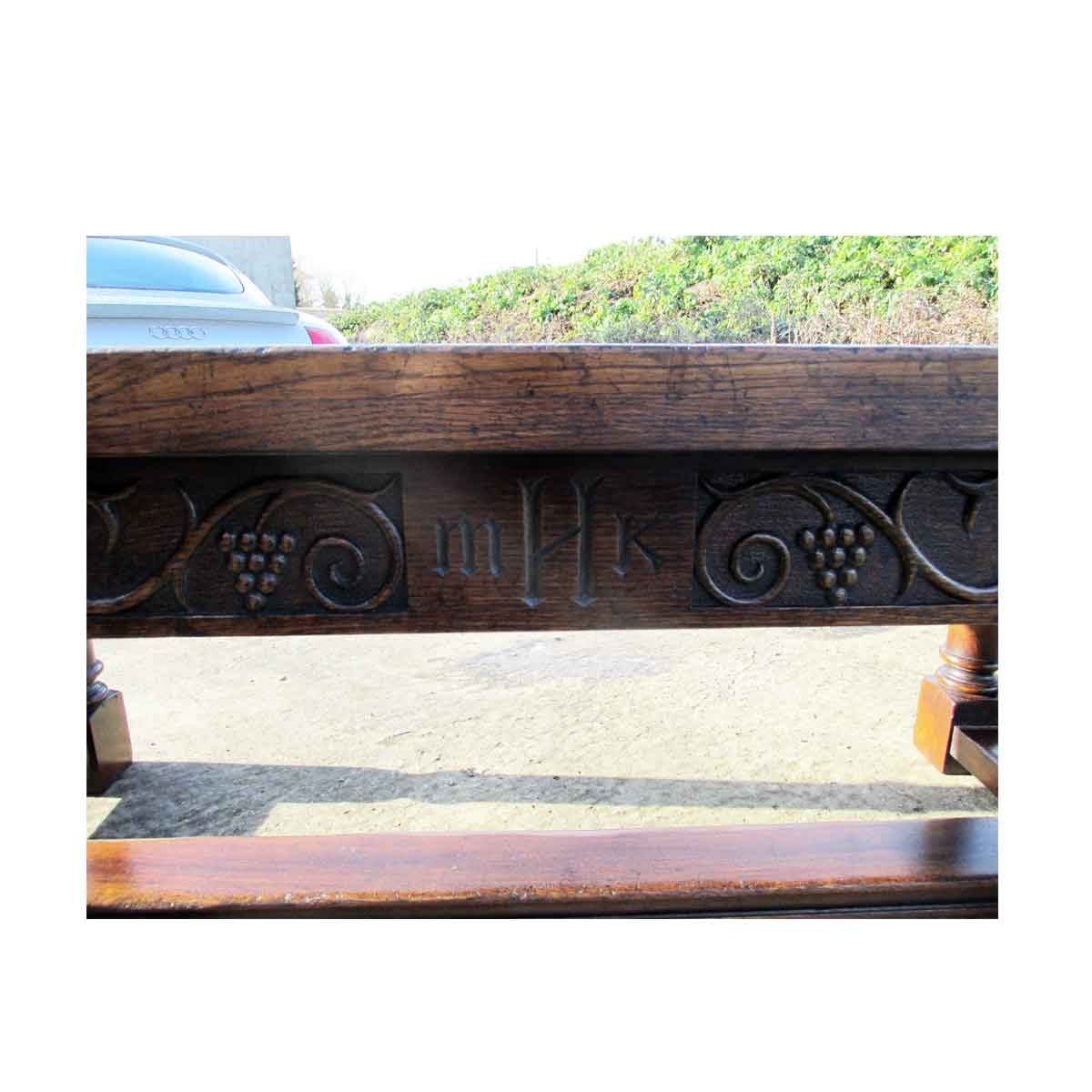 Bespoke Carved Draw-Leaf Refectory Handcrafted in Suffolk