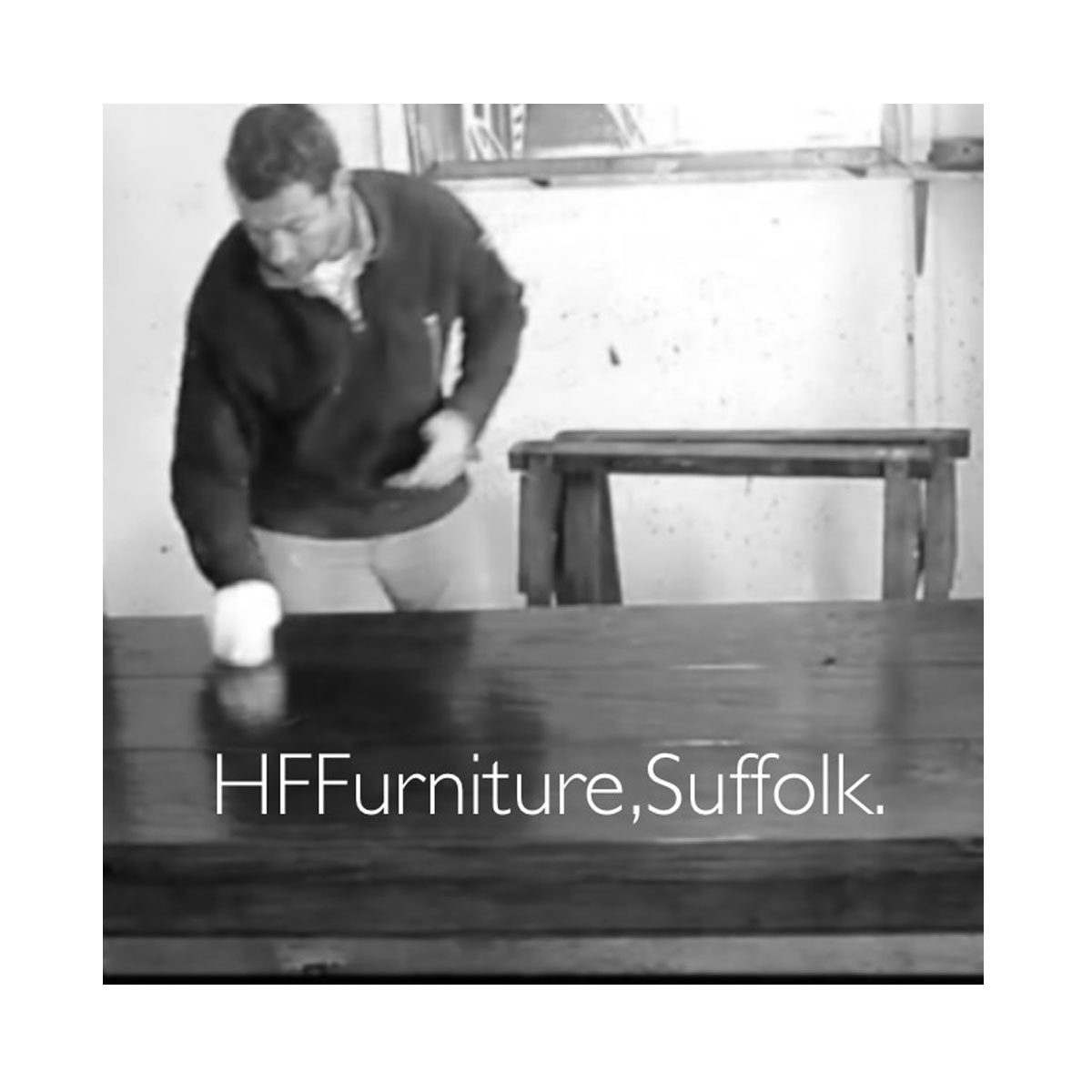 Bespoke Hall Table with H Stretcher Handcrafted in Suffolk