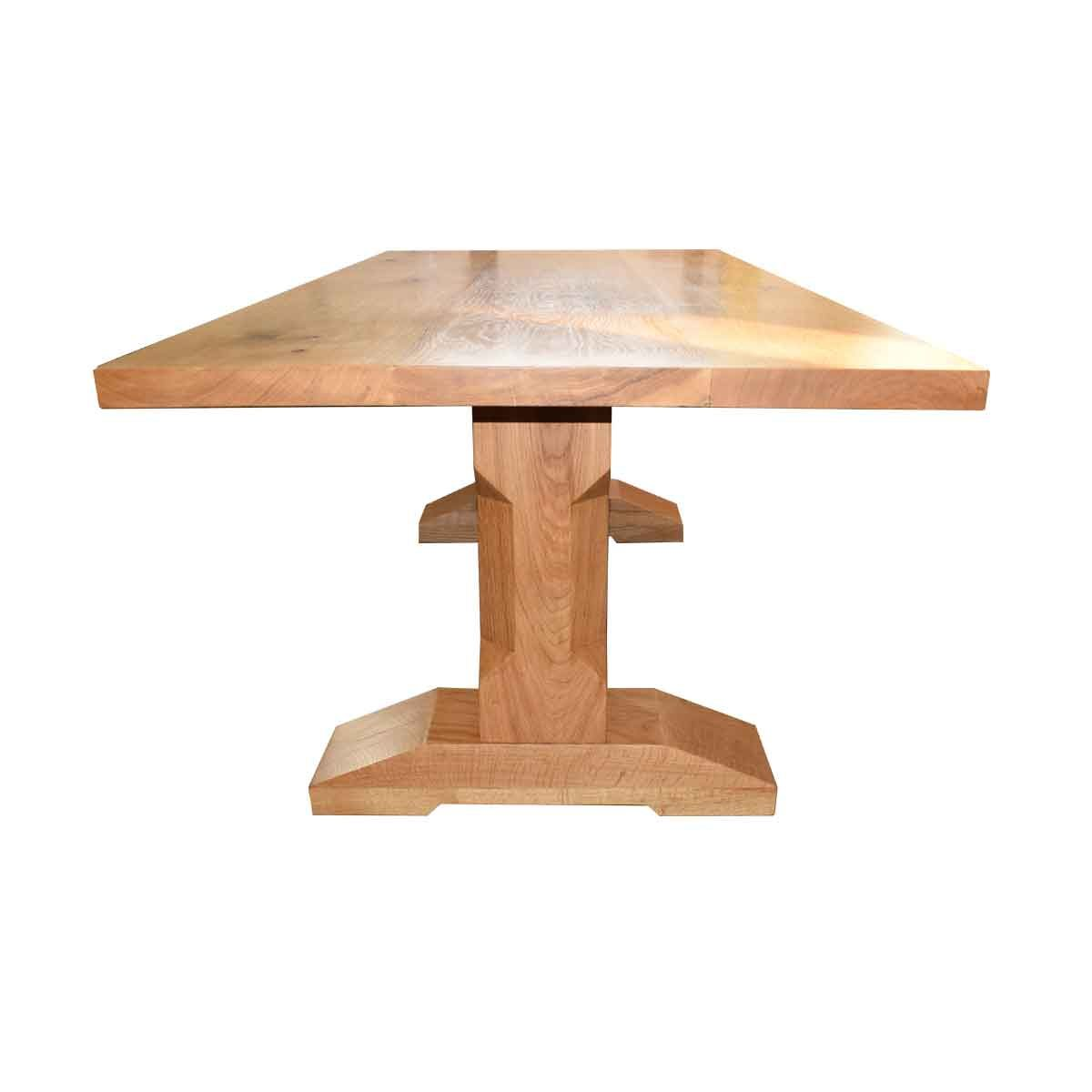 Bespoke Contemporary Chamfered leg Table Handcrafted in Suffolk