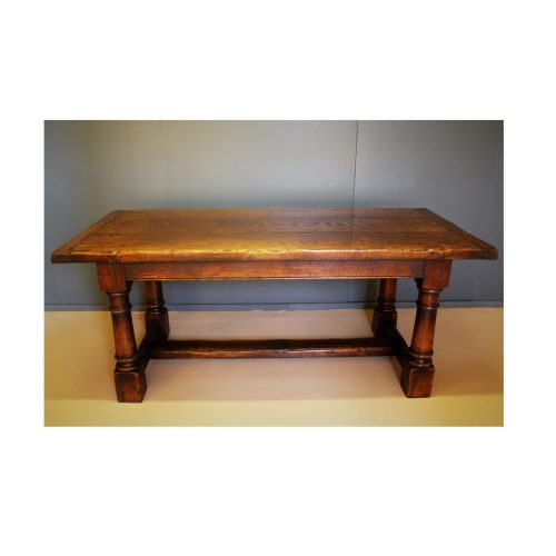 """Refectory table. 7' 6"""" extended."""