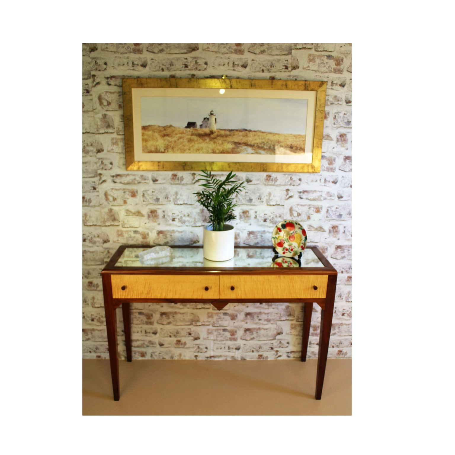 Bespoke Art Deco Hall Table Handcrafted in Suffolk