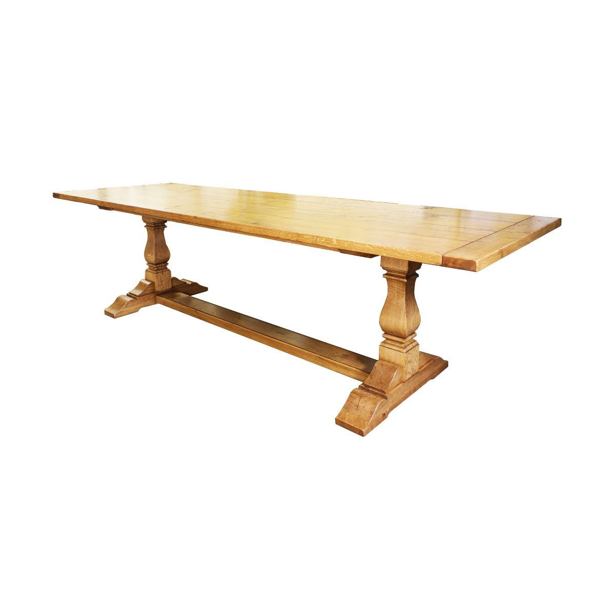 "Bespoke 5"" Leg Square Cut Refectory Table Handcrafted in Suffolk"