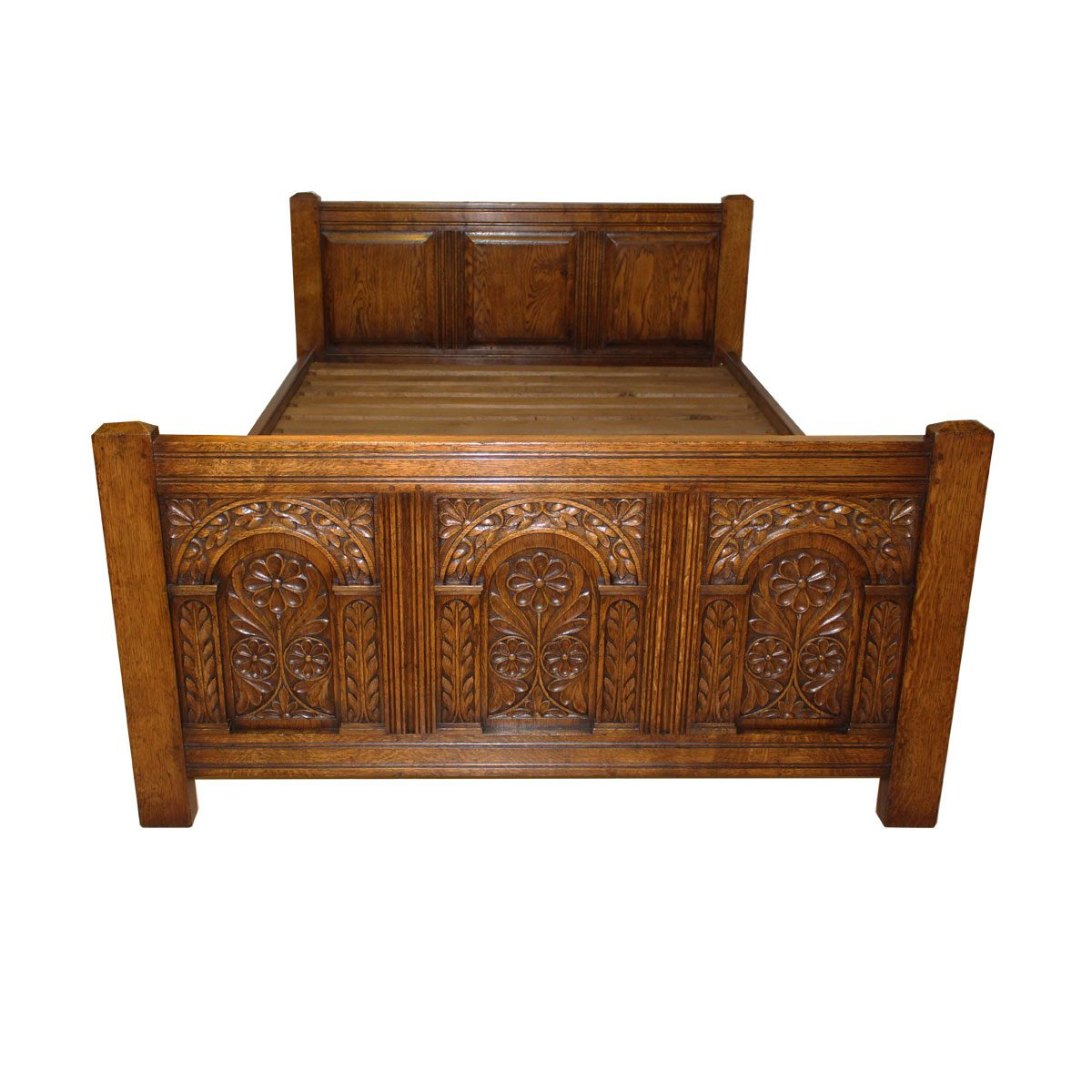 Bespoke Carved Bed Handcrafted in Suffolk