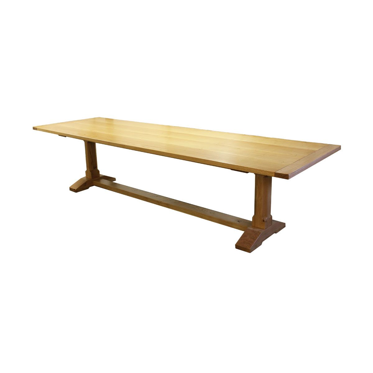"""Bespoke 5"""" Chamfered Leg Dining Table Handcrafted in Suffolk"""