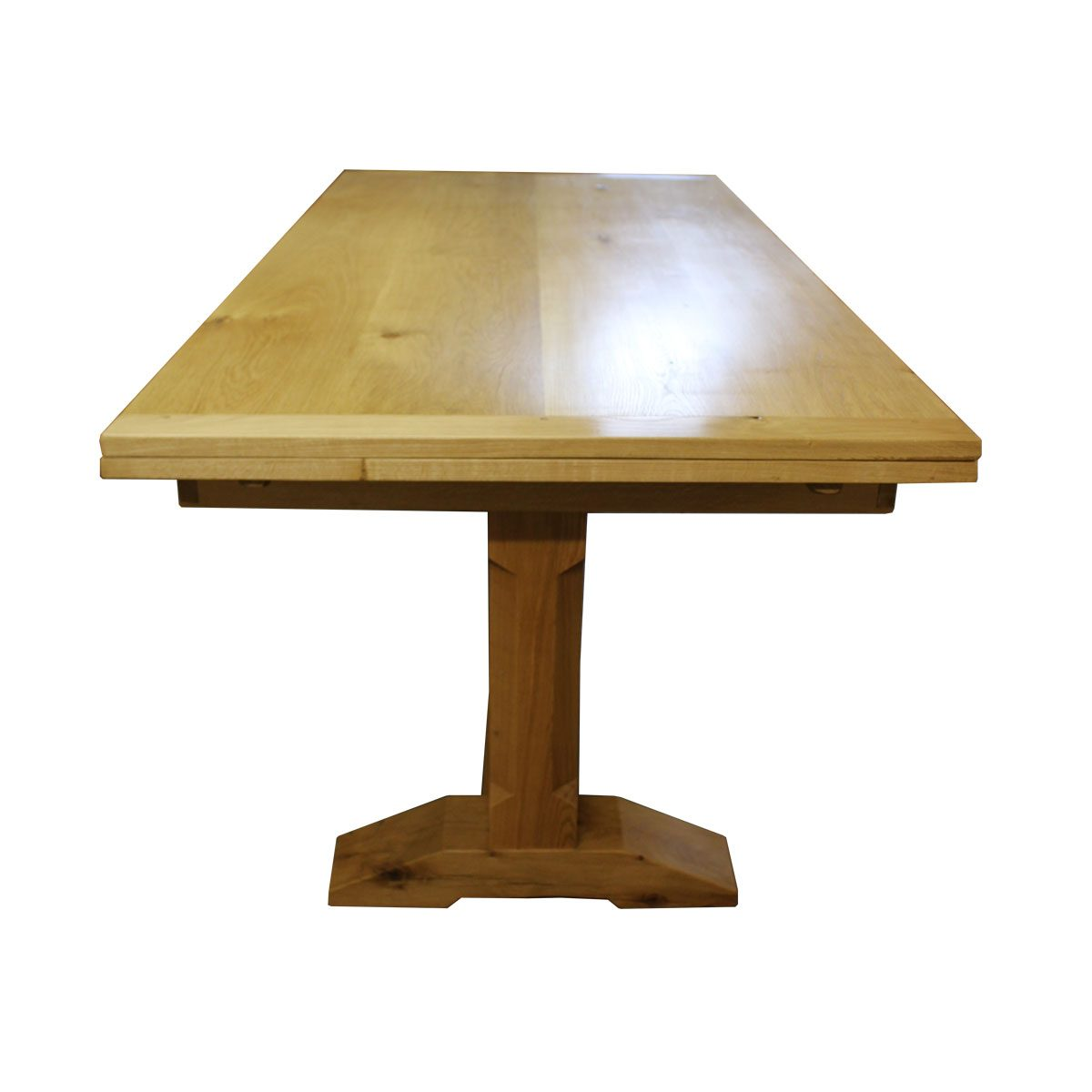 "Bespoke 5"" Chamfered Leg Draw-Leaf Table Handcrafted in Suffolk"